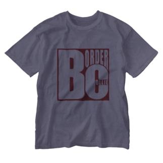 ボーダーコリーロゴ Washed T-shirts