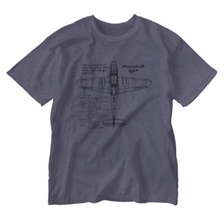 メッサーシュミット:戦闘機:ドイツ軍:ナチス:WW2:第二次世界大戦:太平洋戦争 Washed T-shirts