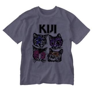 Kijitora KISS Washed T-shirts