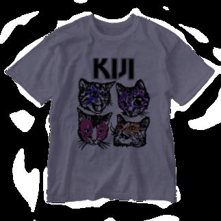 sawallowのKijitora KISS Washed T-shirts