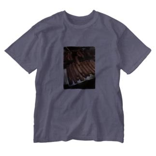 デブT(ソーセージ) Washed T-shirts