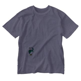 とりペンギン Washed T-shirts