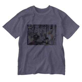 黄昏のバーボンロード Washed T-shirts