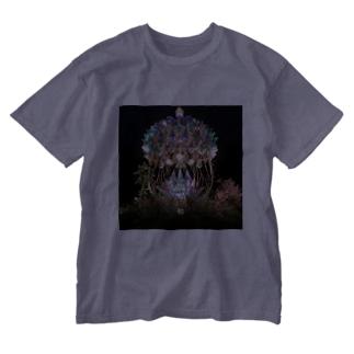 幻想夜空 Washed T-shirts