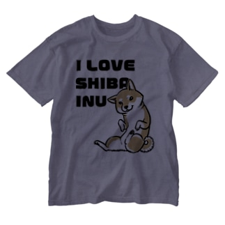 I LOVE SHIBAINU Washed T-shirts