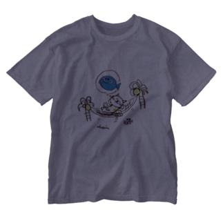 南の島でZZZ Washed T-shirts
