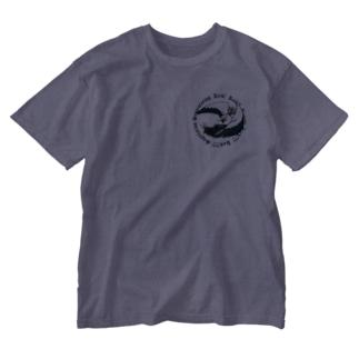 ヘビクイワシが飛び蹴りしてくる! Washed T-shirts