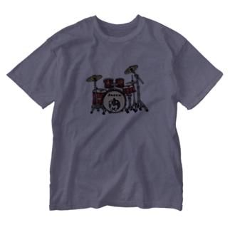ドラムとじゃっさん Washed T-shirts