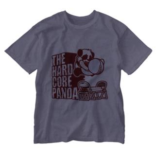 ハードコアパンダ(イス&蛍光灯) Washed T-shirts