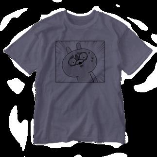DECORの顔芸うさぎ  まじですかver. Washed T-shirts