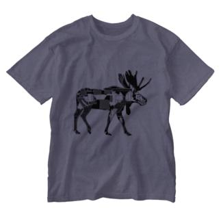 ヘラジカ Washed T-shirts