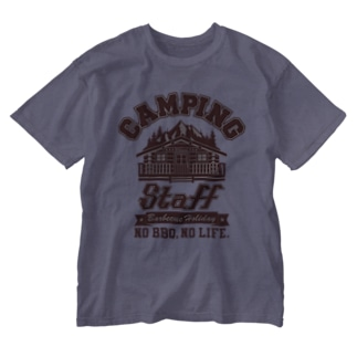 CAMPING STAFF BROWN Washed T-shirts