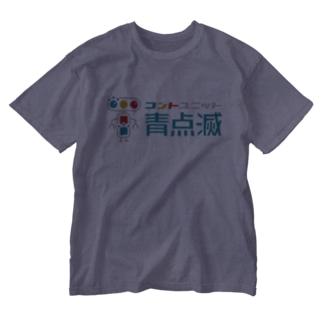 キャラクター+文字 Washed T-shirts