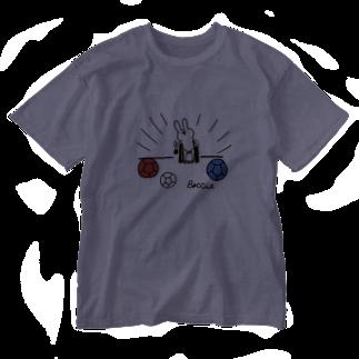 おとなのつくってあそぼの【ボッチャ】throw(投球) Washed T-shirts