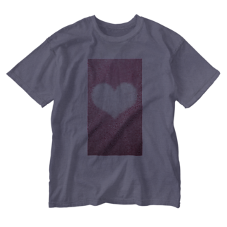 Teatime ティータイムのハート Heart ピンク pink Washed T-shirts