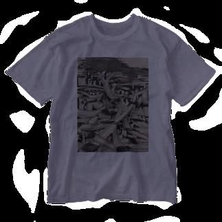PURIPURI29のどーろ Washed T-shirts