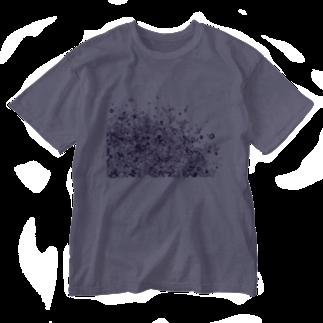 maro's POKER FACE suzuri店のマーブルパープル Washed T-shirts