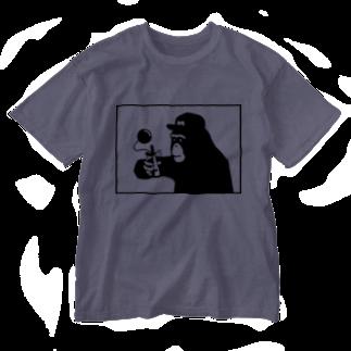 irosocagoodsのチンパンジー×けん玉 Washed T-shirts