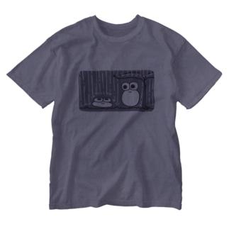 かえるん つぶれる Washed T-shirts