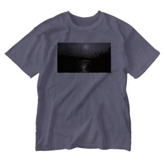 オレンジの光の先 Washed T-shirts