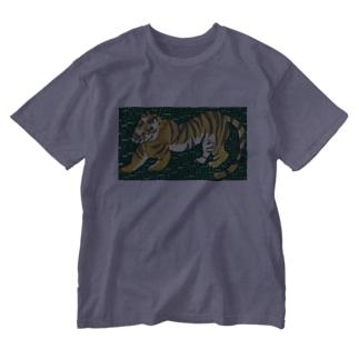 包茎タイガーたかしウーソー図。 Washed T-shirts