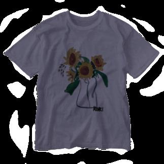 ✈オノウエ コウキのひまわり Washed T-shirts