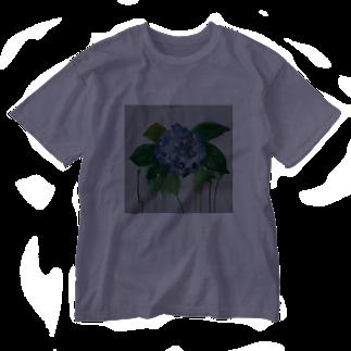 ✈オノウエ コウキの紫陽花の涙 Washed T-shirts
