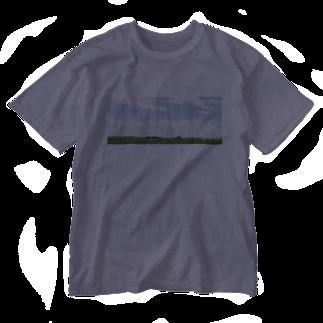 石川 佳宗の草原 Washed T-shirts