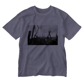 Evening sea light Washed T-shirts