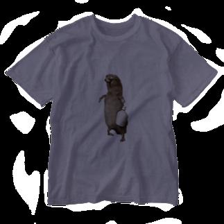 satoの酒好き剥ちゃん Washed T-shirts