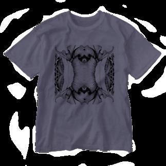 KALYAのsymmetry Washed T-shirts