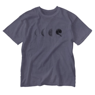 cat moon Washed T-shirts