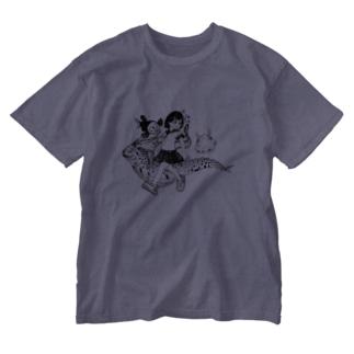 しんかいぎょ Washed T-shirts