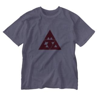 META TRYANGLE Washed T-shirts