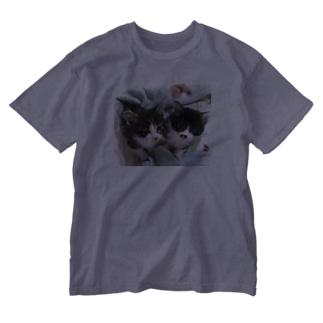 レオンとそら Washed T-shirts