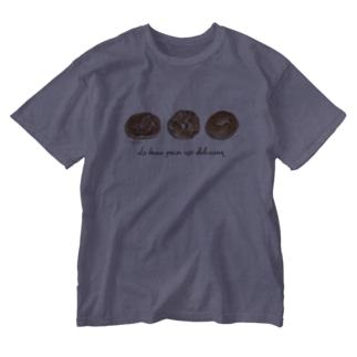 ベーグル Washed T-shirts