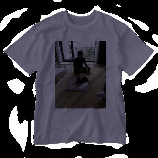 ネコ丸吉(タマ(*´ω`))のうちの旦那はんとポポ Washed T-shirts