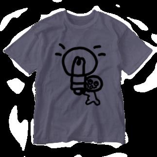 Venizakuraのひらめいたくん Washed T-shirts