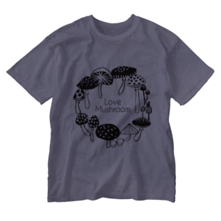Love Mushroom Washed T-shirts