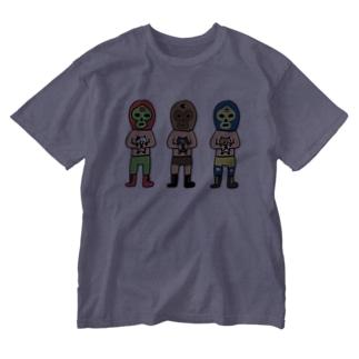 チマホマレスラー Washed T-shirts