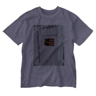 独立運動 Washed T-shirts