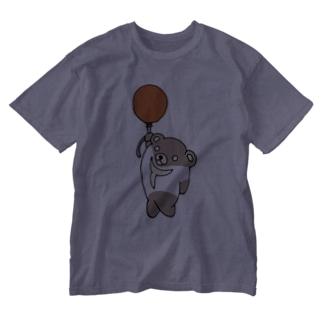 Tシャツくま  風船バージョン Washed T-shirts