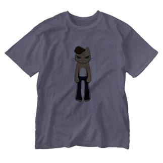 HumanCat<タトゥー>(透過ver.) Washed T-shirts
