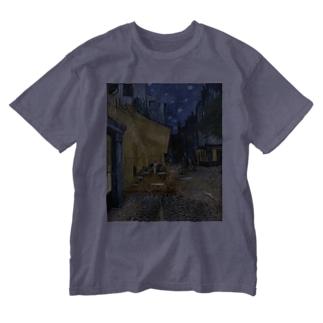 ゴッホ 夜のカフェテラス Washed T-shirts
