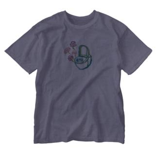 国道沿い商会のコスモストイレ(大) Washed T-shirts