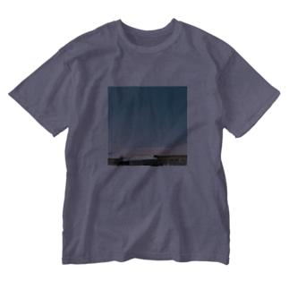 さんかく飛行機雲 Washed T-shirts
