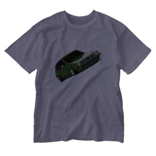 Slammed car② Washed T-shirts