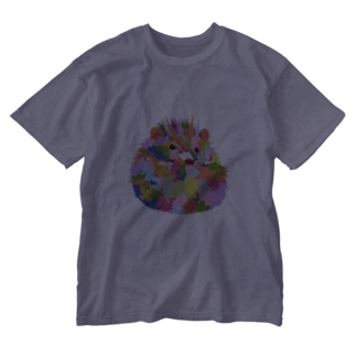 meiroのハリネズミ Washed T-shirts