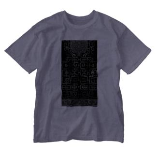 樺太アイヌ文様 Washed T-shirts