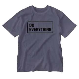 (黒文字)なんでもやんなきゃダメでしょ!DO EVERYTING Washed T-shirts